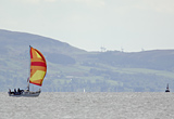 Yacht sailing on Clyde