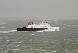 MV Bute crossing Clyde in Storm