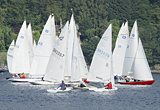 Yacht racing on Holy Loch