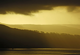 moody lighting over Clyde estuary