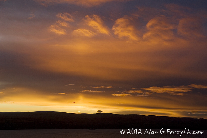sunrise from Innellan 26 Jan 2012