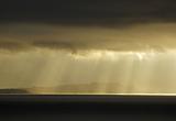 Sun rays over Cumbrae