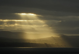 Sun rays through storm clouds over Clyde