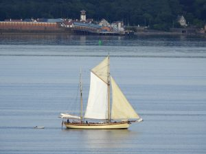 """Sailing Ship """"Maybe"""" on Clyde"""