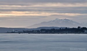 Toward Lighthouse and Arran in Winter