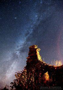 Milky Way Over Knockamillie Castle