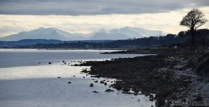 Arran in Winter from South Cowal