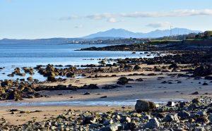 Arran, Toward Lighthouse from Innellan Shoreline