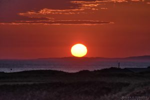 Sunset at Machrihanish, Kintyre, Argyll