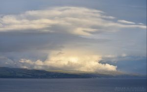 Clouds over North Ayrshire