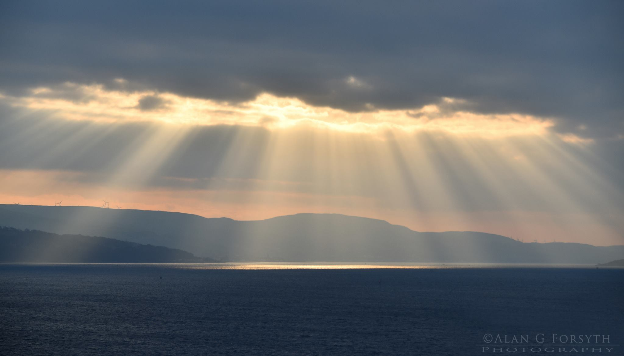 Winter Sun Rays Over Ayrshire