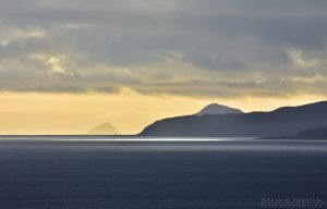 Winter Sky Over Bute, Holy Isle (Arran) and Ailsa Craig