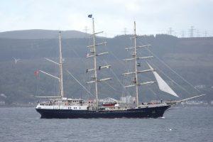 Tall Ship Tenatious on Clyde 11-Sept-2019