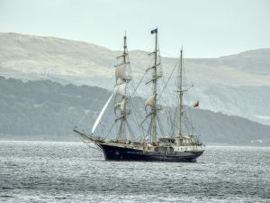 Tall Ship Tenatious on Clyde 11-Sept-2019