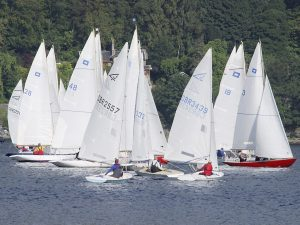 Dinghies on Holy Loch