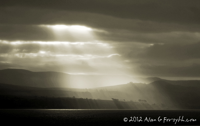 Sun rays over Skelmorlie
