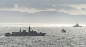 HMS Northumberland on Clyde