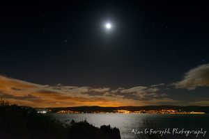 Moon and Starry Sky Over South Cowal
