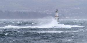 Storm Hitting the Gantocks