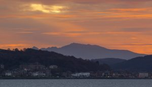 Winter Sunset Over Rothesay