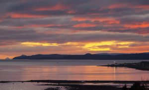 Winter Sunset, Toward Lighthouse