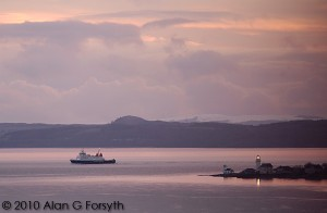 Bute Ferry passing Toward Pt. winter 2010