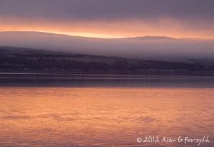 Sunrise over Clyde 28 Jan 2012