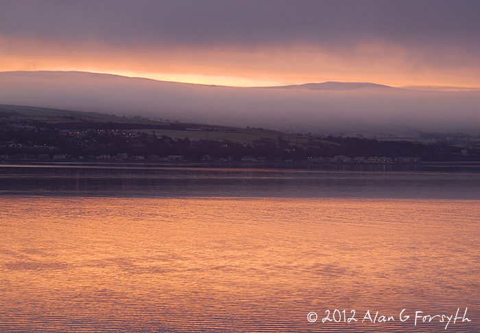 Sunrise over Clyde 28 Jan 2012