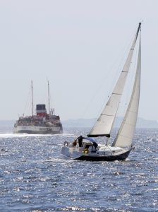 PS Waverley & Yacht on Clyde