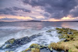 Stormy Sea Sunset at Toward