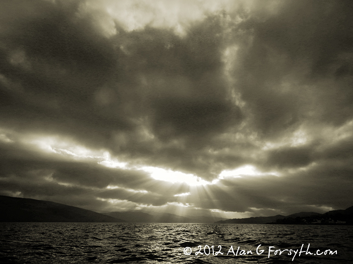 winter skies over Loch Fyne, Argyll, Scotland