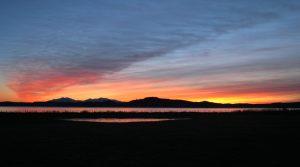 Winter Sunset over Arran